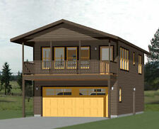 20x40 House -- 1 Bedroom 1.5 Bath -- 965 sq ft -- PDF Floor Plan -- Model 7F