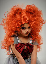 Childrens New It Clown Style Curly Ginger Wig