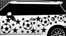 93-teiliges Fußball Sterne Star Auto Aufkleber Set Sticker Tuning WANDTATTOO