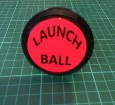 Pinball LAUNCH BALL RED Illuminated Switch Button