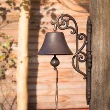 Stilvolle Glocke mit floraler Form, Haustürglocke wie Antik, im Landhausstil