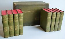 c1900 8 volume boxed set of WILLIAM SHAKESPEARE Bryce Glasgow illust VGC GREAT!