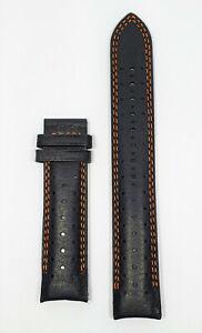 Original MIDO Ocean Star Model 4730 / 4735 / 8730 Black Leather Watch Band Strap