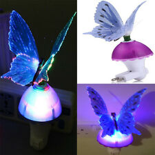 Fiber Optic Butterfly LED Color Change Night Light Lamp Lamp Baby Bedroom Decor