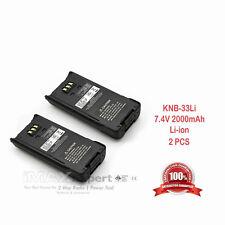 2 x 2000mAh KNB-33L Li-Ion Two-Way Radio Battery for KENWOOD TK-2180 TK-3180