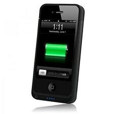 Phone Fashion Power Case Cover Shield for iPhone 4/4S - Black 1450mAh