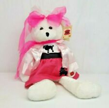 "Chantilly Lane OLIVIA BEAR 22"" Musical Singing Plush Teddy w Pink Poodle Skirt"