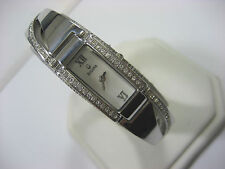 BULOVA 96T63 LADIES CASUAL WATCH S/S & CRYSTAL WHITE DIAL ANALOG MODERN