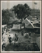 1920's CHINA GRAVURE PAGEANT OF PEKING DONALD MENNIE - ROAD IN THE SUBURBS