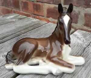 Lomonosov reclining horse Foal figurine