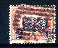 """ITALIA - Regno - 1878 - Francobolli di servizio del 1875 sovr. """"2 C"""" su 2 cent."""