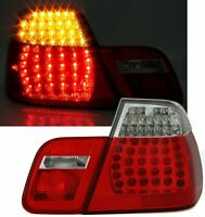 BMW E46 SALOON CLEAR LED REAR TAIL LIGHTS LAMPS 10/2001-3/2005 FACELIFT MODEL