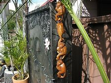 BALI HAND CARVED, WOODEN HANGING MONKEYS.HOMEWARES, BINTANG, SHIRT,SINGLET,DECAL