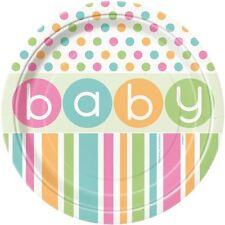 Confezione 8 Piatti Carta 17 cm , Baby Shower Nascita  PS 09633