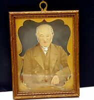 Antique photo portrait of Gentleman with frame , 1880s.