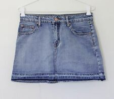Denim A-Line Solid Skirts for Women