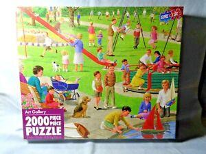 New Sure Lox 2000 Piece Puzzle Art Gallery Playground Children Outdoor Park
