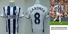 2016-17 Craig Gardner Squad Signed West Brom Match Shirt (11093)
