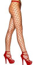 Women's Ladies Diamond Fishnet Tights Large Net Colours White ,Black, Red