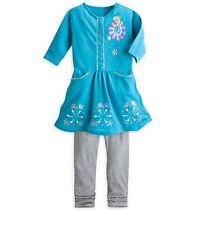 Disney Store Deluxe Frozen Elsa Knit Dress & Leggings 2pc Set Size 4 - 5/6 NWT