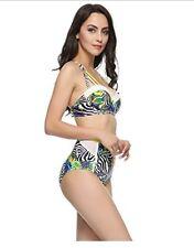 FIGRACE Women's Bikini Swimsuit Bathing Suit Push up Swimwear UK 12-14 RRP £79