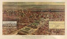 "HP  14"" x 24"" 1910 Map of Pennsylvania Railroad Station, New York city"