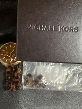 Michael Kors Oversized Tortoise MK5216 Chronograph Crystal Watch for Women