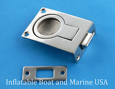 "Boat Door Hatch Cabinet Lift /Pull Ring Slam Latch 2 1/4"" Marine Stainless steel"