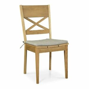 CHARLOTTE FRENCH WOODEN OAK CROSS BACK DINING CHAIR - SET OF 2
