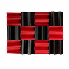 12PC Acoustic Wall Panels Sound Proofing Foam Material Pads Studio Decor NEW