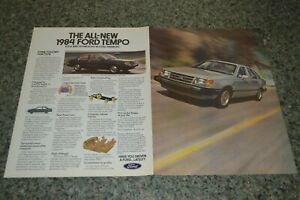 ★★1984 FORD TEMPO ORIGINAL FOLD OUT ADVERTISEMENT AD PRINT-84★★
