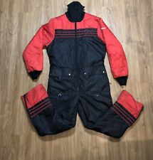 Vintage Yamaha Snowmobile Suit Size Large Made In USA Black Red