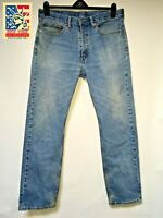 Levi's 505 Jeans Distressed Faded Hippie Boho Hobo-chic Denim 36x32