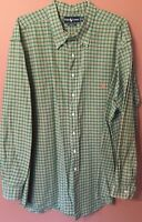 Ralph Lauren  Shirt Long Sleeve Button Mens Size 4XLT Tall Plaid. EUC