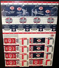 Cincinnati Reds 2012 Phantom Playoff Postseason Uncut Sheet Unused Ticket Stub