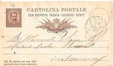 ROCCAMANDOLFI  -  INTERO POSTALE    Viaggiato 1887  Mittente : Iannitelli