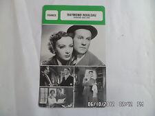 CARTE FICHE CINEMA RAYMOND ROULEAU PERIODE 1929 1944
