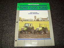 DEUTZ-ALLIS TRACTOR 6240 6250 6260 BROCHURE LITERATURE ADVERTISING