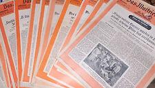 Das Illustrierte Blatt Frankfurter Zeitschrift Alt Konvolut 13 Hefte aus 1944