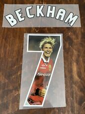 David Beckham 7- Special Edition Jersey name set for Manchester United jerseys