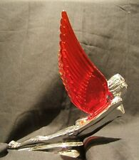 FLYING GODDESS WITH RED LIGHT UP WINGS CAR BONNET OR TRUCK MASCOT
