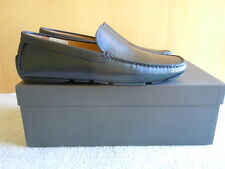 Bally Mens Moccasin Driver Shoes, NIB, Size 9.5D, Black Leather, $400 value