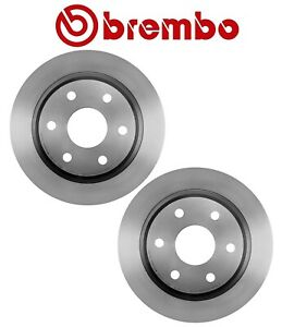 For Chevrolet GMC Cadillac Set of 2 Rear Brake Disc Rotors Vented 330mm Brembo