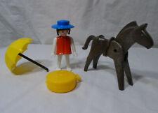 PLAYMOBIL * 1974 Geobra * Man - Horse - Umbrella - Suitcase - Vintage - Set of 4