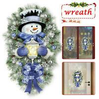 Christmas  Snowman Wall Stickers Door Window Decals Wallpaper . Home Art Door