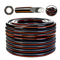 """4 LAYER 1//2/"""" Garden Hose Pipe Reinforced Outdoor 15-50m FREE FITTINGS"""