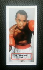 BOXING - USA - SUGAR RAY LEONARD - Score PRIZE FIGHTERS UK trade card