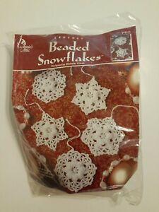 Annie's Attic Beaded Snowflakes Kit THREAD BEADED CROCHET Sealed Vintage 2000