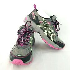 Asics Women's US 6 Gel-Venture 5 Trail Running Green Pink Grey T5N9Q (D) EU37