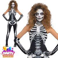 Womens Bone-A-Fied Babe Halloween Costume Skeleton Fancy Dress
